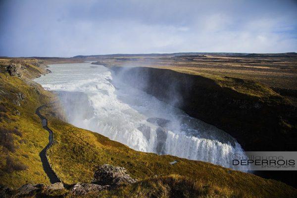 Gulfoss Iceland tirage d'art