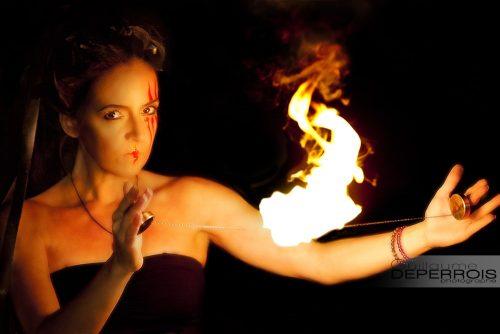Aline on fire 1 tirage d'art