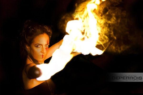 Aline on fire 2 tirage d'art