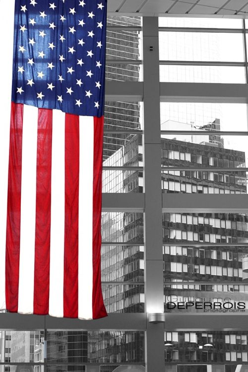 US flag New York tirage d'art