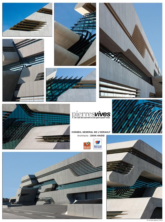 affiche promotionnelle Pierres vives de Zaha Hadid