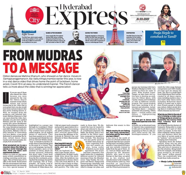 The indian Express Post - Mahina Khanum