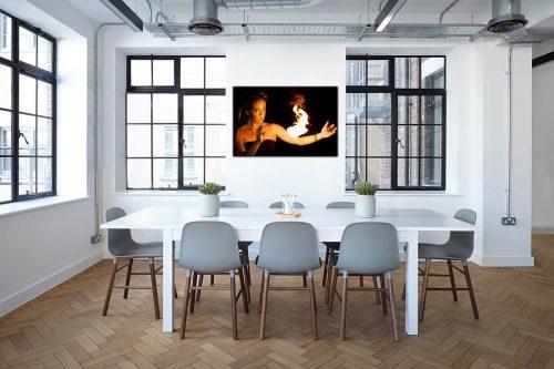 Aline on Fire 01 decor de style industriel