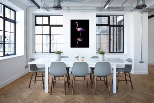 Flamant rose decor de style industriel
