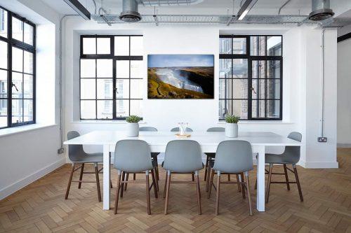 Gulfoss Iceland decor de style industriel