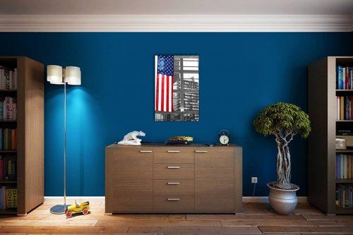 US Flag New York decor de style cosy