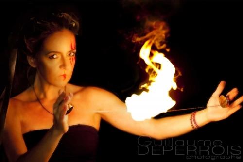 Aline on fire 1